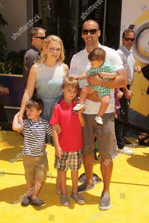 Melissa Joan Hart, Mark Wilkerson and children Mason, Brady and Tucker