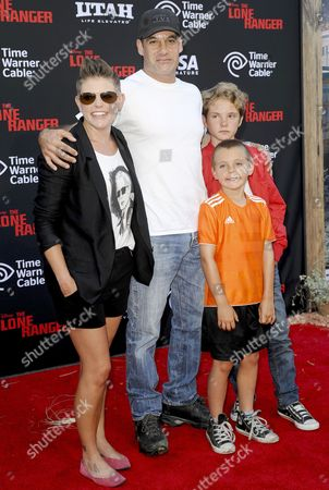 Adrian Pasdar and Natalie Maines and family