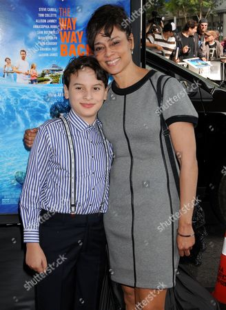 River Alexander with his mother