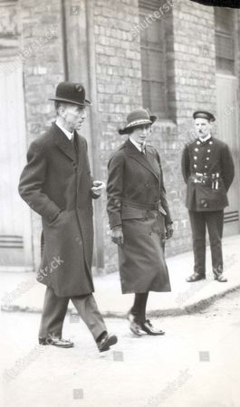 Princess Mary With Sir Thomas Bell Of John Brown In Clydebank.
