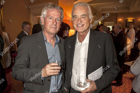 Tony Banks and Jimmy Page at Michael Winner's house in Notting Hill