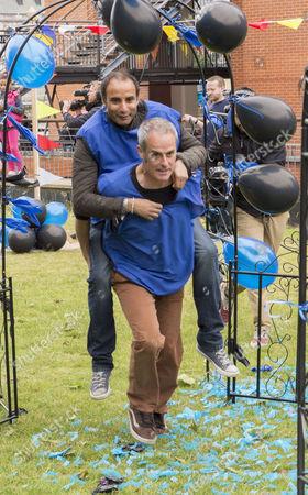 Reza Mahammed and Phil Vickery