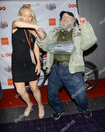 Stock Image of Leanne Melissa Bishop and Craig ' Radioman ' Castaldo