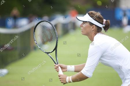Editorial picture of Tennis player Vavara Lepchenko at Eastbourne Aegon tennis tournament in Sussex, Britain - 18 Jun 2013