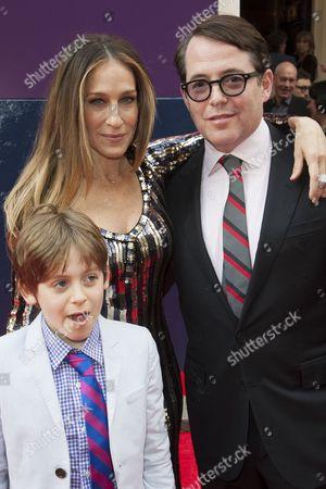 James Broderick, Sarah Jessica Parker and Matthew Broderick