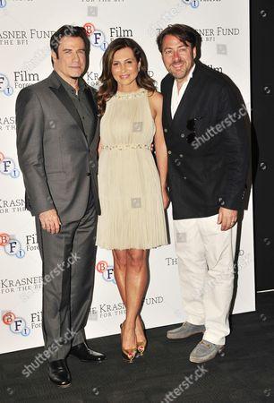 John Travolta, Ella Krasner and Jonathan Ross