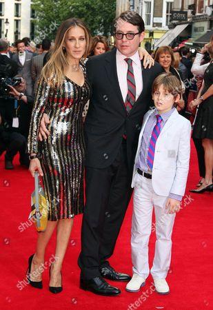 Sarah Jessica Parker, Matthew Broderick and James Broderick,