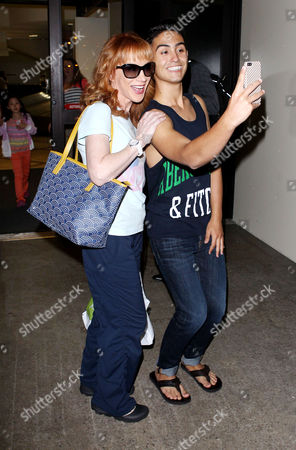 Stock Picture of Kathy Griffin and fan