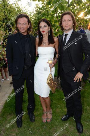 Manuele Malenotti and Michele Malenotti with Yasmin Mills