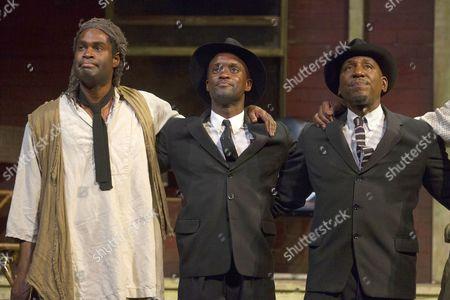Ako Mitchell (Gabriel Maxson), Peter Bankole (Lyons Maxson) and Colin McFarlane (Jim Bono)