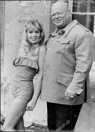 Actress Mary Millington With Actor Milton Reid.