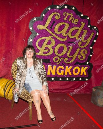 "Shameless actress Alice Barry attends the performance . The Ladyboys of Bangkok perform their show , "" Glamorous Amorous """