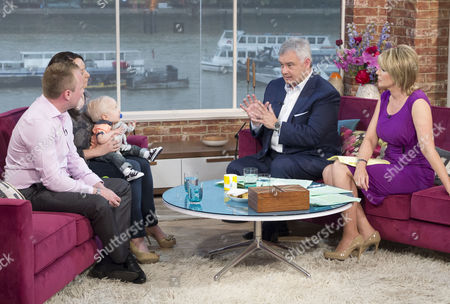 Stock Image of James Linnen and Elizabeth Moore with son Samuel Linnen and Eamonn Holmes and Ruth Langsford