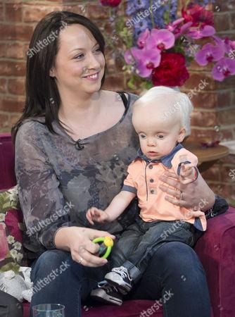 Elizabeth Moore with son Samuel Linnen