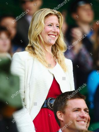 Laura Bechtolsheimer watches from the royal box