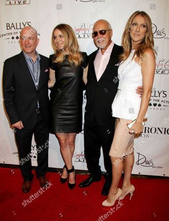 Remon Boulerice, Veronic Dicaire, Rene Angelil and Celine Dion