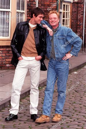 Stephen Billington With Bruce Jones His Co-star In Television Programme Coronation Street. Stephen Plays Greg Kelly The Son Of Les Battersby (played By Bruce Jones) Who Turns Up Out Of The Blue.