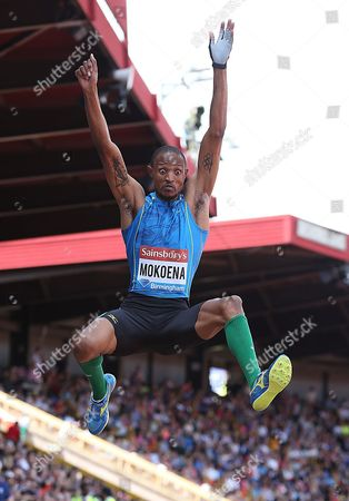 Godfrey Khotso Mokoena of South Africa competes in the men's long jump