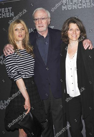 Stock Picture of Sir Michael Caine, Clemence Poesy and Sandra Nettelbeck