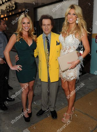 Stock Image of Richard Simmons, Angela Zatopek and guest