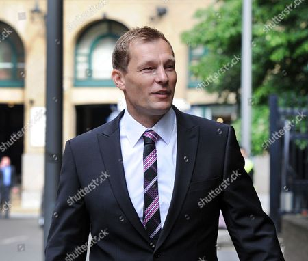 London. Pc Simon Harwood 41 Arrives At Southwark Crown Court This Morning. Pc Harwood Is Accused Of Mr Tomlinson's Manslaughter During The G20 Demonstrations In April 2009 .