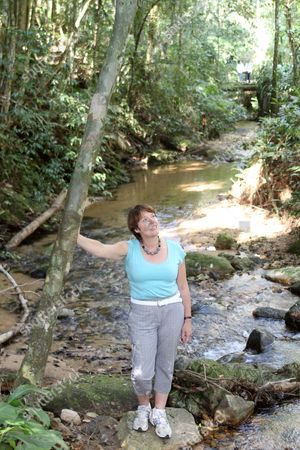 Environment Secretary Caroline Spelman Visits The Tijuca National Park Outside Rio De Janeiro Brazil Yesterday. She Is In Rio To Attend The Rio+20 Conference On The Environment.
