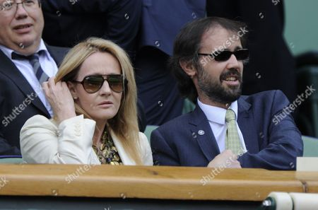 Jk Rowling Watches Play On Centre Court Akgul Amanmuradova V Petra Kitova June 26th.2012. The Championships Wimbledon 2012 Day Two ).