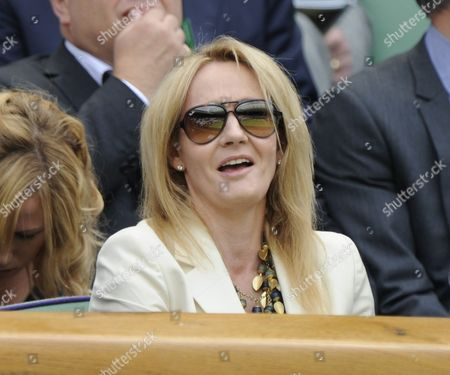 Jk Rowling In The Royal Box Akgul Amanmuradova V Petra Kitova June 26th.2012. The Championships Wimbledon 2012 Day Two ).