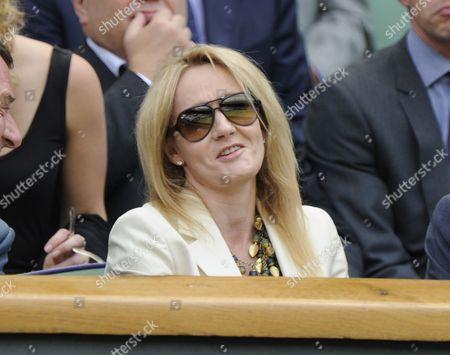 Jk Rowling Watches Play On Centre Court Akgul Amanmuradova V Petra Kitova June 26th.2012. The Championships Wimbledon 2012 Day Two ).