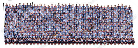 The Official Team Gb Picture. All 541 Athletes From The Gb Olympic Team Photographed At The Loughborough Preparation Camp. Left To Right Row By Row Caption For Big Picture Top Row (1st) 1-36 1. Azania Stewart 2. Julie Page 3. Jenaya Wade-fray 4. Temi Fagbenle 5. Joel Freeland 6. Dan Clark 7. Kieron Achara 8. Pops Mensah-bonsu 9. Jon Schofield 10. Liam Heath 11. Richard Jefferies 12. Lynn Beattie 13. Jo Morgan 14. Grace Carter 15. Janine Sandell 16. Dami Bakare 17. Dan Hunter 18. Andrew Pink 19. Jason Haldane 20. Ryan Giggs 21. Micah Richards 22. Ryan Bertrand 23. Aaron Ramsey 24. Craig Dawson 25. Danny Rose 26. Ellen White 27. Karen Bardsley 28. Eniola Aluko 29. Kim Little 30. Sophie Bradley 31. Karen Carney 32. Sophie Troiano 33. Anna Bentley 34. James Honeybone 35. Natalia Sheppard 36. Louise Bond-williams 2nd Row 1-36 1. Stef Collins 2. Rachel Vanderwal 3. Natalie Stafford 4. Dominique Allen 5. Andrew Lawrence 6. Eric Boateng 7. Nate Reinking 8. Luol Deng 9. Tim Brabants 10. Ed Mckeever 11. Lucy Wicks 12. Maria Bertelli 13. Rachel Bragg 14. Lizzie Reid 15. Ciara Michel 16. Peter Bakare 17. Ben Pipes 18. Joel Miller 19. Chris Lamont 20. Tom Cleverley 21. Jack Butland 22. Scott Sinclair 23. Marvin Sordell 24. Jack Cork 25. Daniel Sturridge 26. Jill Scott 27. Anita Asante 28. Alex Scott 29. Kelly Smith 30. Casey Stoney 31. Fara Williams 32. Husayn Rosowsky 33. James Davis 34. Richard Kruse 35. Corinna Lawrence 36. Sophie Williams 3rd Row 1-35 1. Rose Anderson 2. Johannah Leedham 3. Chantelle Handy 4. Kimberly Butler 5. Kyle Johnson 6. Andrew Sullivan 7. Mike Lenzly 8. Robert Archibald 9. Jess Walker 10. Angela Hannah 11. Rachel Cawthorn 12. Louisa Sawers 13. Rach Laybourne 14. Jennifer Taylor 15. Savanah Leaf 16. Mark Mcgivern 17. Mark Plotyczer 18. Nathan French 19. Kieran O'malley 20. Craig Bellamy 21. James Tomkins 22. Jason Steele 23. Joe Allen 24. Neil Taylor 25. Steven Caulker 26. Stephanie Houghton 27. Rachel Willia.