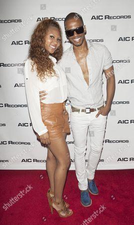 Stock Photo of Tashiana Washington and Eric West