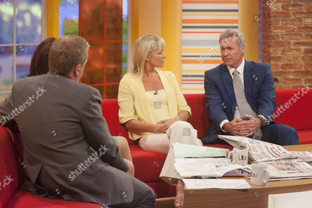 Aled Jones and Lorraine Kelly with Terri Dwyer and Dr Hilary Jones