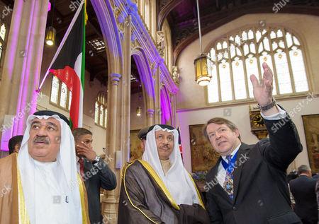 Mustafa Jassem Al Shamali, Jaber Al-Mubarak Al-Hamad Al-Sabah and The Lord Mayor Roger Gifford