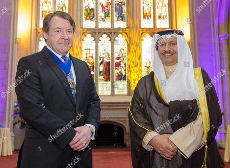 Lord Mayor Roger Gifford and Kuwaiti Prime Minister Jaber Al-Mubarak Al-Hamad Al-Sabah
