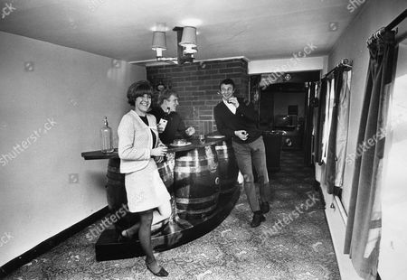 Manchester City Footballer Francis Lee At Home With His Wife Jean Lee And Mike Summerbee In Westhoughton Lancashire.