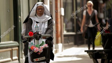 Velma Davies  This classically attired nun is permanently on a mission, but not necessarily one from God. Seemingly always in a rush to get somewhere this elderly Nun has fitted an air horn to her mobility scooter and woe betide you if you find yourself in her way...a deafening blast of the horn and a few choice words await you if do.