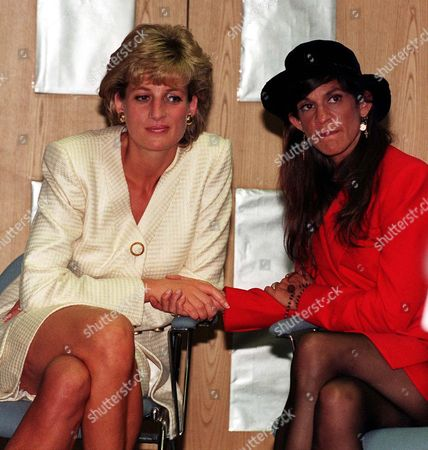 Princess Diana with Aileen Getty