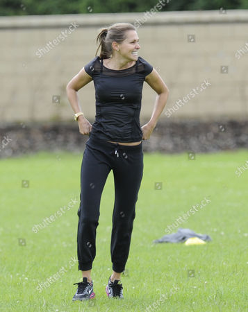 Editorial photo of WAGs football practice, Hale, Cheshire, Britain - 03 Jul 2013