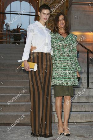 Saskia de Brauw and Carine Restoin-Roitfeld