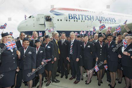 Editorial photo of British Airways first Airbus A380 Superjumbo arrives at Heathrow Airport, London, Britain - 04 Jul 2013