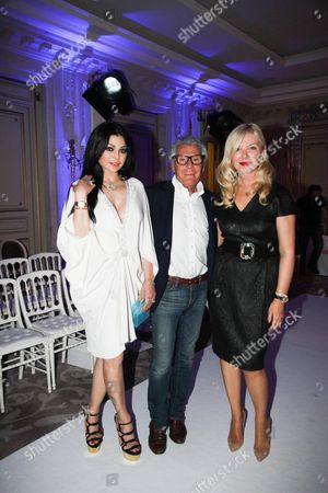 Haifa Wehbe, Jean Daniel Lorieux and Yulia Yanina