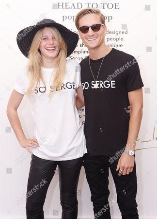 Stock Image of Lydia Baylis and Oliver Proudlock