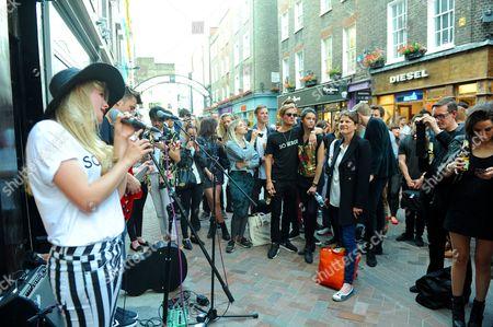 Stock Photo of Lydia Baylis (performing) and Oliver Proudlock