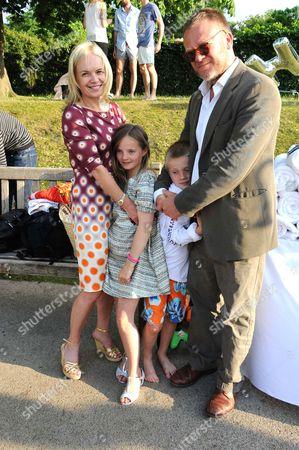 Mariella Frostrup, Jason McCue and children
