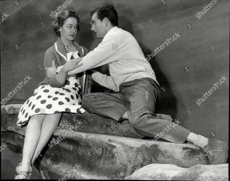 Scene From Play 'lizard On The Rocks' John Bonney And Doreen Afis.