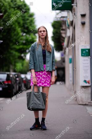Editorial image of Street style, Paris Fashion Week, France - 03 Jul 2013