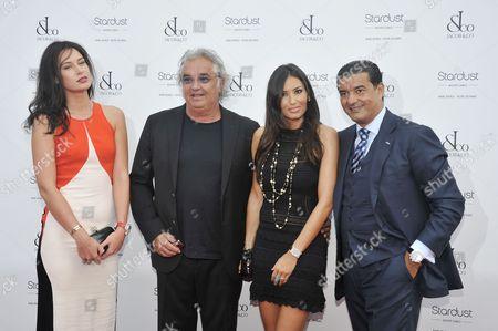 Elisabetta Gregoraci (2-R), Flavio Briatore (2-L), Jacob Arabo (R) and his wife, far left