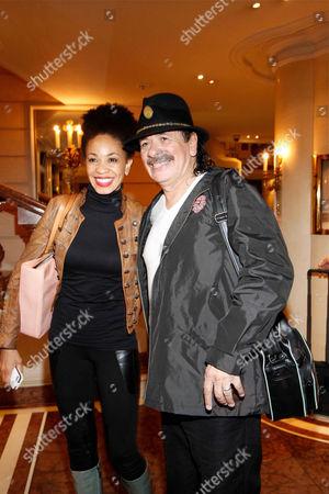 Carlos Santana and wife Deborah Santana