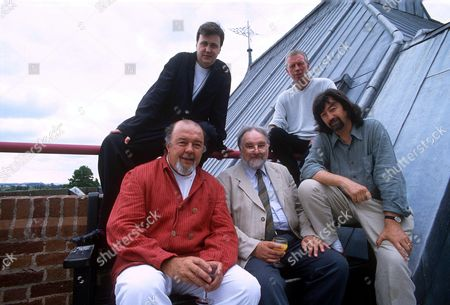 [ LEFT TO RIGHT ] SIR PETER HALL, ADRIAN NOBLE, DAVID BRIERLEY, TERRY HANDS AND TREVOR NUNN