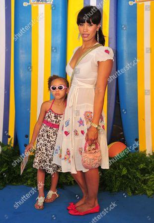 Javine Hylton with daughter Angel